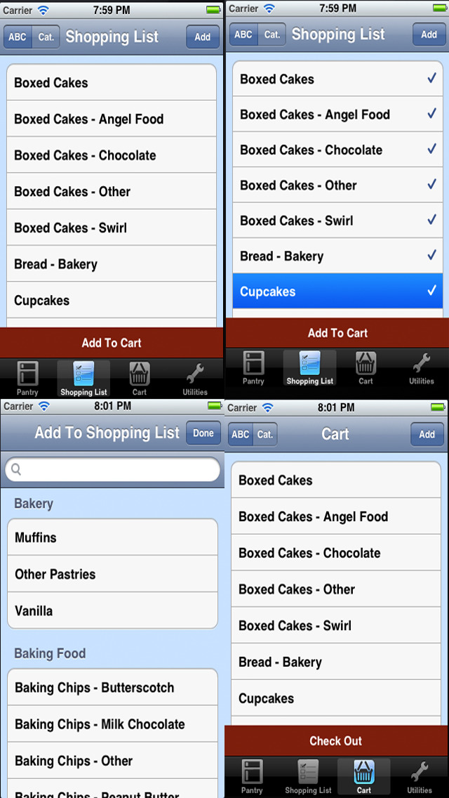 Grocery Shopping Checklist and Pantry Inventory Checklist. screenshot 2
