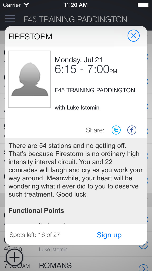 F45 Training Paddington screenshot 2