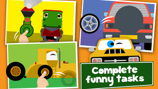 Cars, Trains and Planes Cartoon Puzzle Games Free screenshot 4