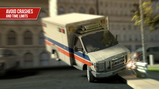 Ambulance Simulator 3D - Patients emergency rescue and hospital delivery sim - Test real car driving, parking and racing skills screenshot 4