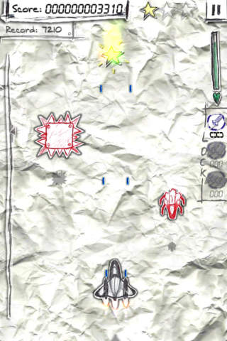Shock-X. Lite - Space shooter wars paper - náhled