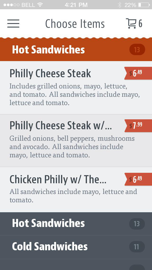 Philly Steak Subs screenshot 3