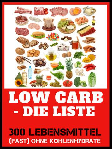 Low Carb Liste - Abnehmen ohne Kohlenhydrate und Diät screenshot 6