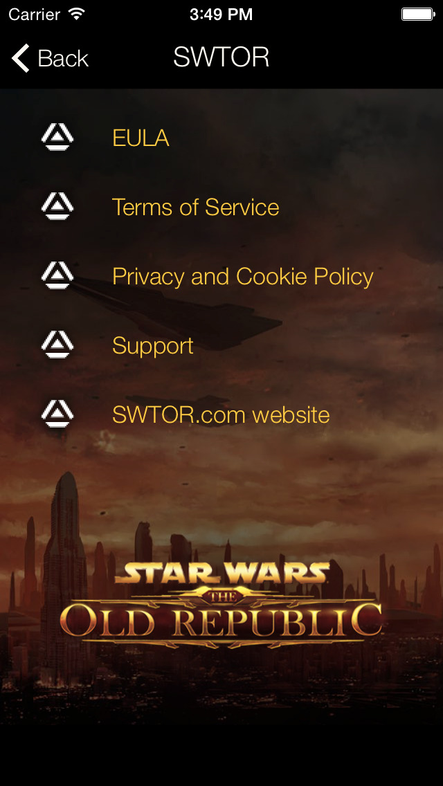 Star Wars: The Old Republic Security Key screenshot 3