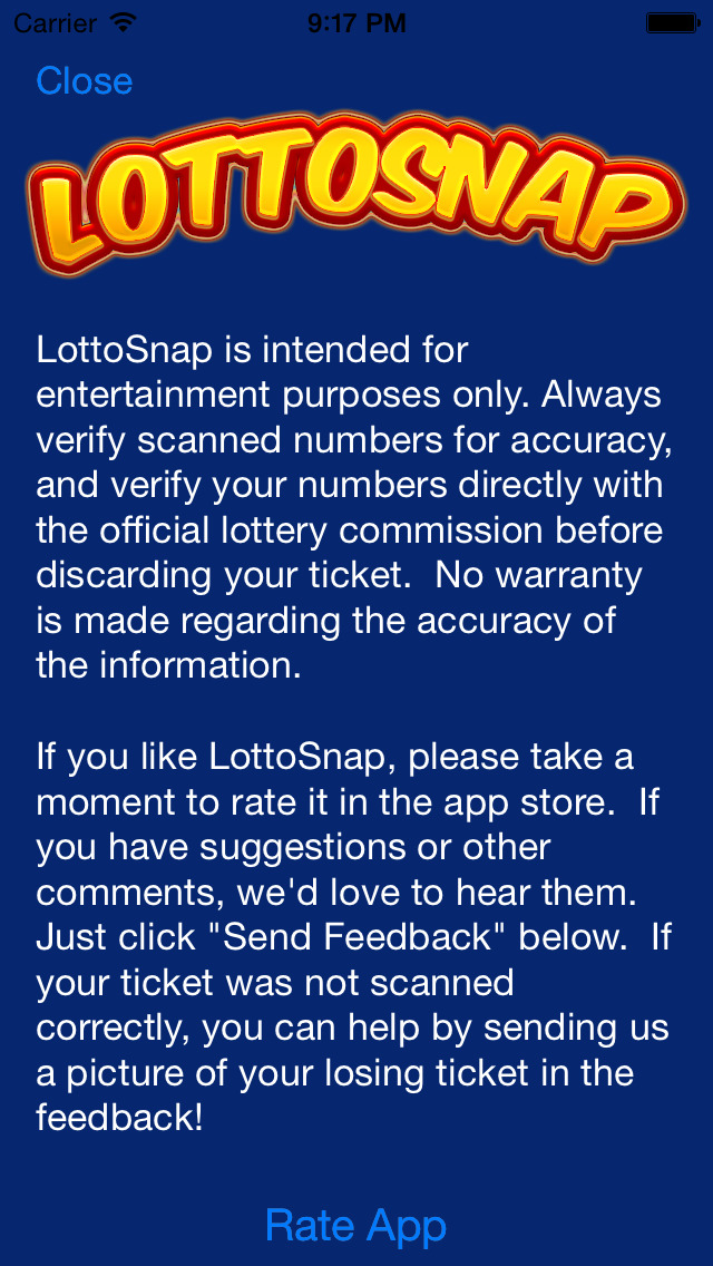 LottoSnap - Lotto Results and Ticket Scanner for Megamillions