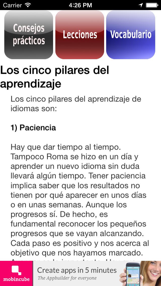 Inglés fundamental screenshot 4