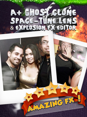 A+ Ghost Clone Space-Tune Lens & Explosion FX Editor FREE screenshot 6