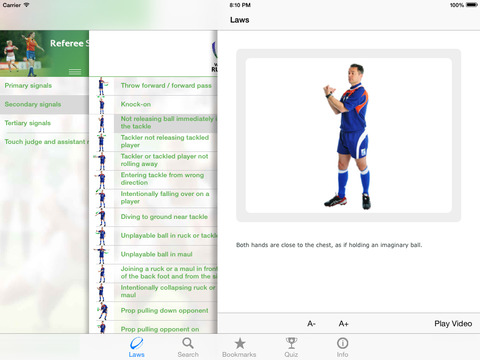 World Rugby Laws of Rugby 2016 screenshot 3