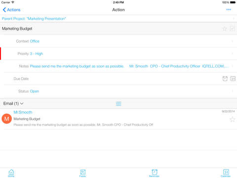 IQTell, Email + Task Management in One Place GTD® screenshot 10