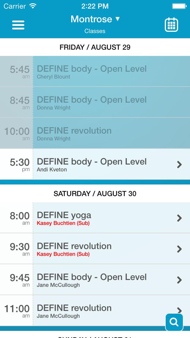 DEFINE Body & Mind screenshot #3