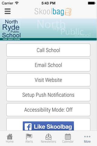 North Ryde Public School - Skoolbag - náhled