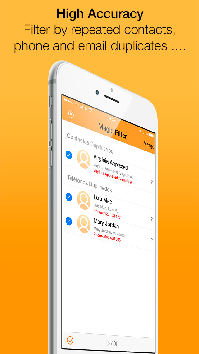 Clean Contacts Pro - Cleans and removes duplicate contacts in your Contacts Book screenshot 3