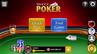 Yahoo Poker – Free, live, multiplayer app screenshot 2