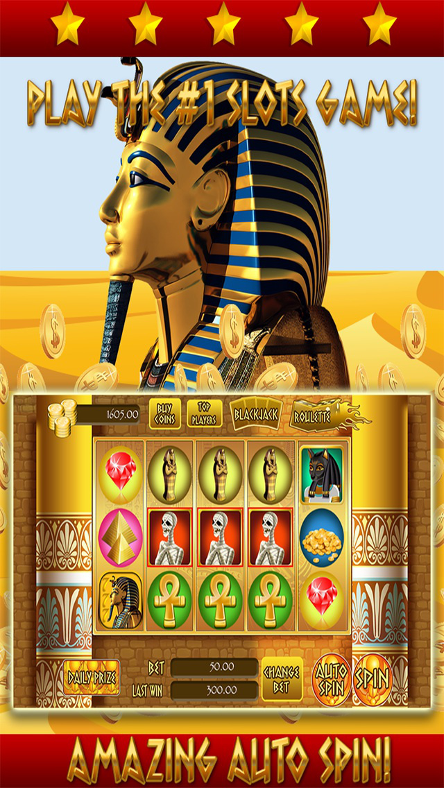 *777* Pharaoh Slots - Casino Games HD screenshot 2