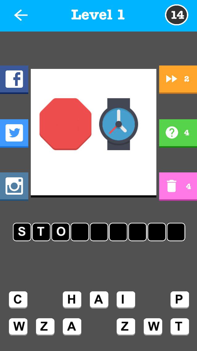 An Emoji Trivia Game - With Instagram & Facebook Sharing screenshot 1