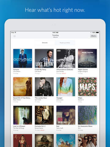 Rdio Music screenshot 10