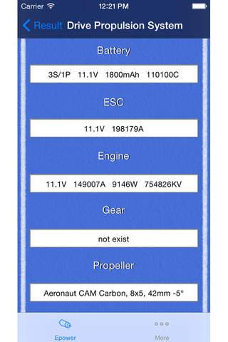 EpowerCalc - náhled