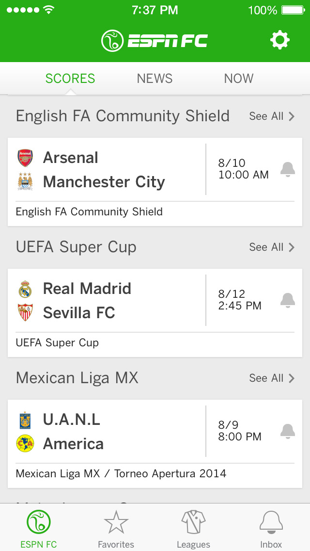 ESPN FC Soccer screenshot 1