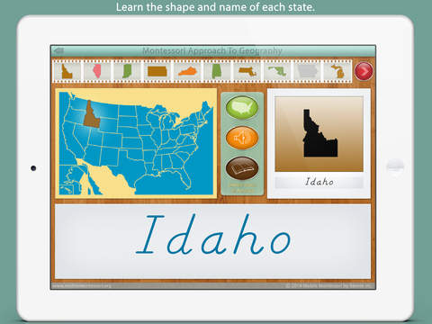 United States Of America LITE - A Montessori Approach To Geography screenshot 2