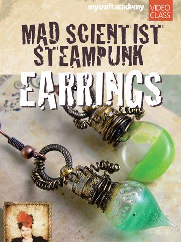 Mad Scientist Steampunk Earrings screenshot 6