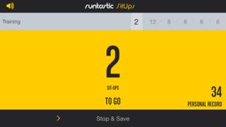 Runtastic Sit Ups: Abs Trainer & Counter screenshot 2