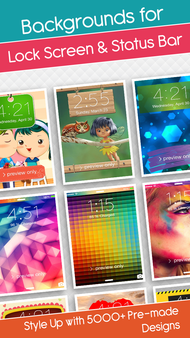 Lock Screen Wallpapers & HD Backgrounds With Ringtones & Sounds screenshot 4