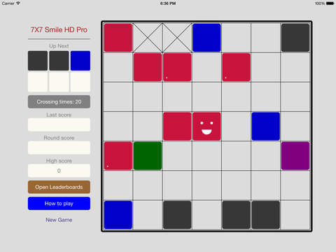 7X7 Smile HD - the classic game 7X7 screenshot 1