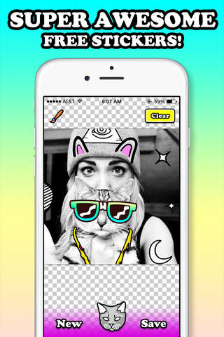 Catwang - Sticker Edit Camera - náhled