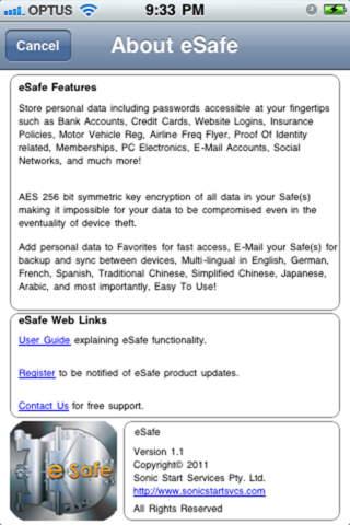 eSafe Lite - náhled
