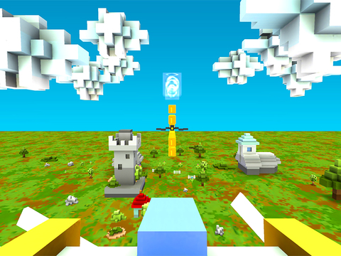 Blocky Plane Gold screenshot 9