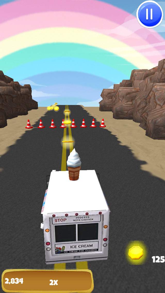 An Ice Cream Truck Race: 3D Driving Game - FREE Edition screenshot 2