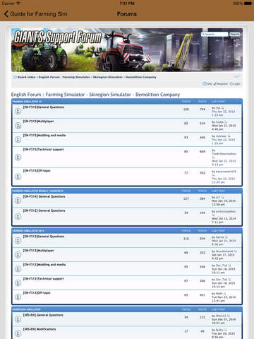 Guide Plus for Farming Simulator 15 screenshot 6