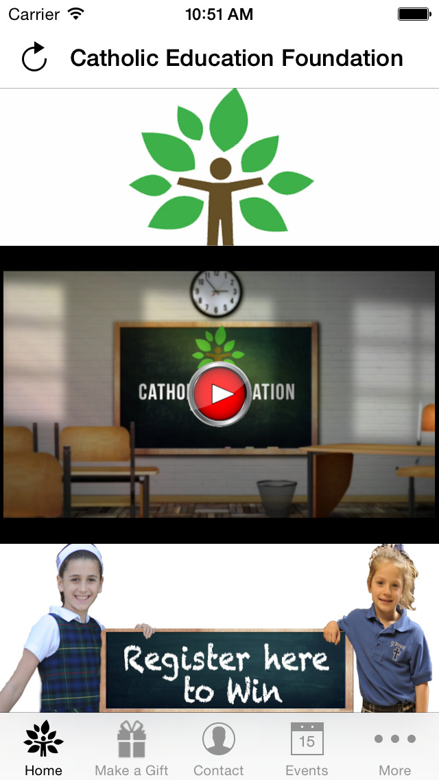 Catholic Education Foundation screenshot 2