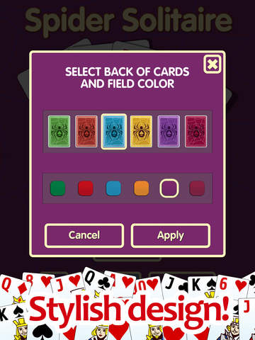 Spider solitaire PRO - classic popular game screenshot 10