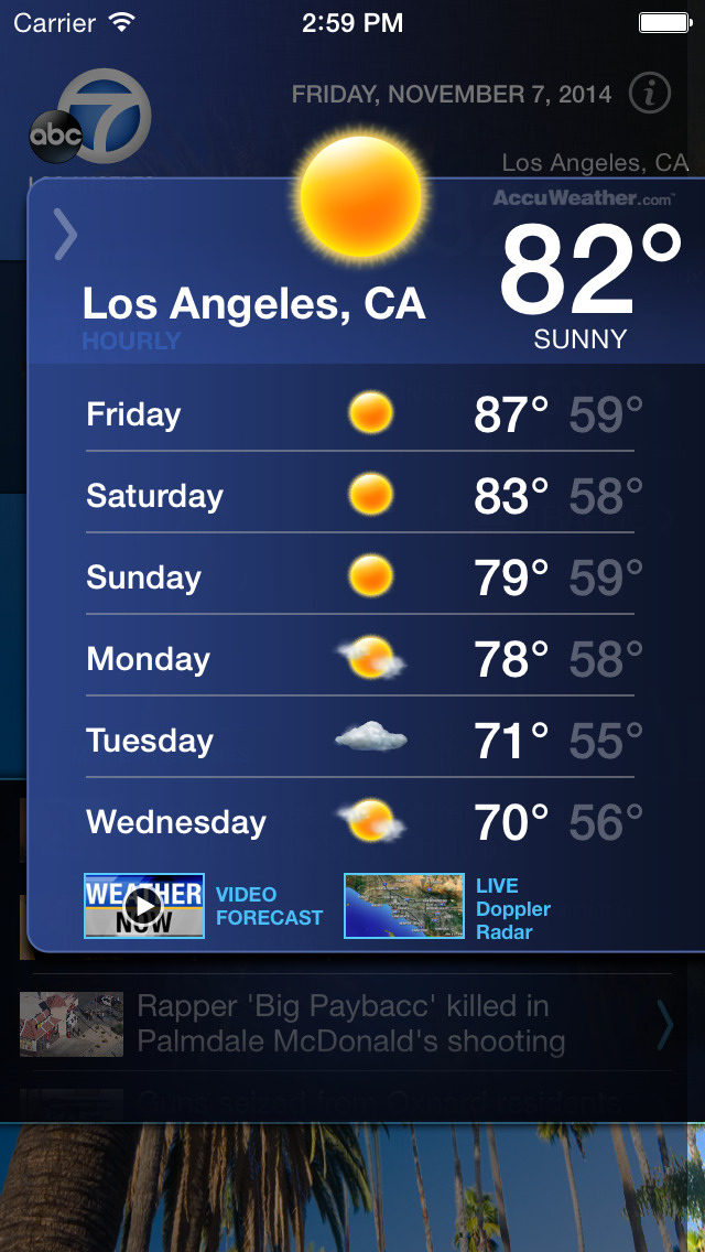 ABC7 Los Angeles Alarm Clock screenshot 2