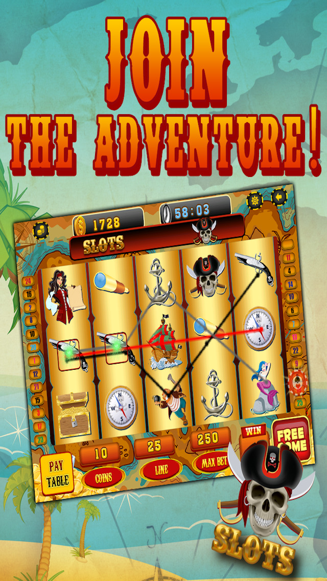 Ace Pirates Slots Casino - Lucky 777 Jackpot Journey Slot Machine Games HD screenshot 2