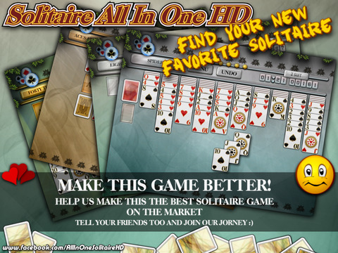Solitaire All In One HD Pro - The Classic Card Game Full Deluxe Puzzle Pack for iPad & iPhone screenshot 8