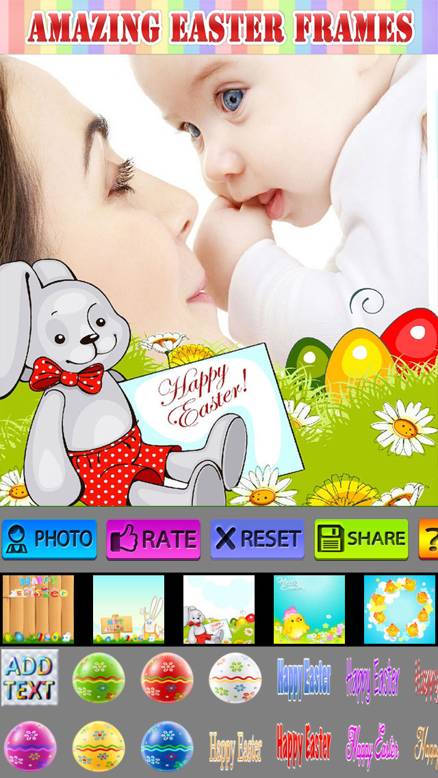 Easter Photo Frame and Sticker screenshot 1