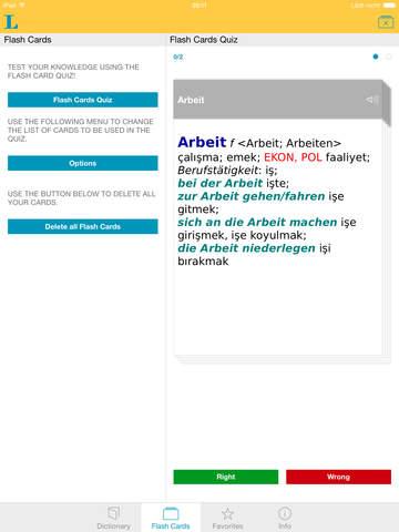 Turkish <-> German Dictionary Basic screenshot 8