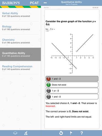 Barron's PCAT Exam Review Practice Questions screenshot 6