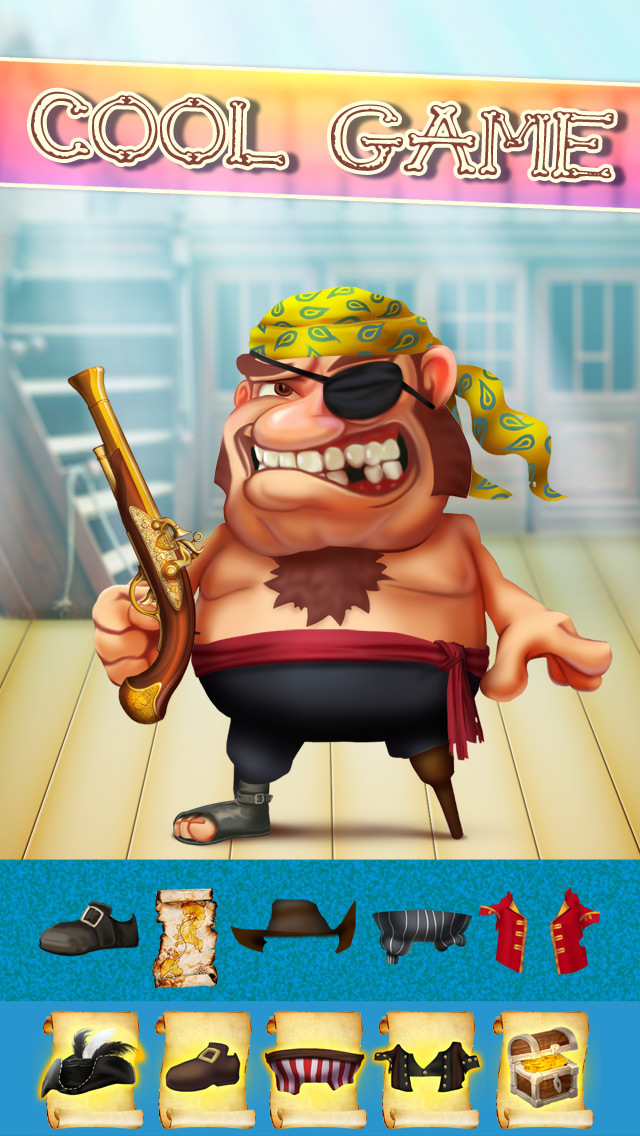The Pirates of Treasure Island Dress Up Game - Advert Free Version screenshot 1