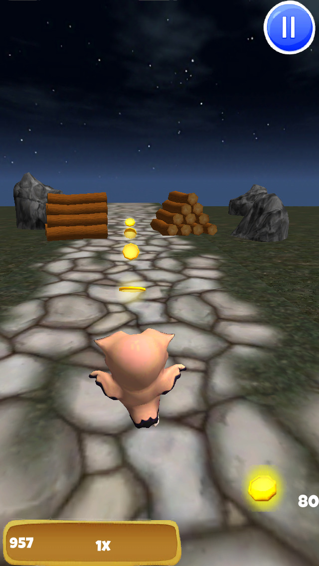 A Owl Run: 3D Bird Running Game - FREE Edition screenshot 3