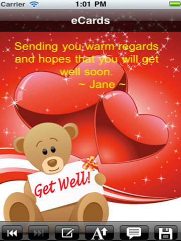 Get Well Cards with photo editor. Send get well soon greetings card and custom get well ecards with text and voice messages ! screenshot 7
