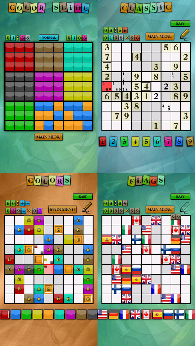 Sudoku Game Collection HD Pro - Logic Brain Trainer Puzzle Pack screenshot 1