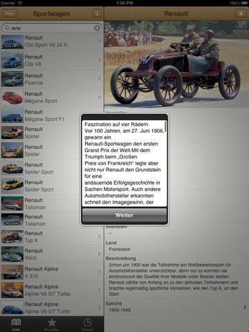 1000 Sportwagen aus aller Welt screenshot 7
