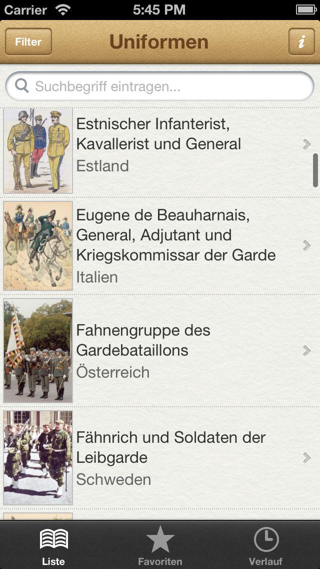 1000 Uniformen aus aller Welt screenshot 1