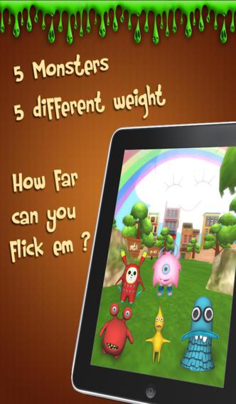 Flick Monster 3D screenshot 2
