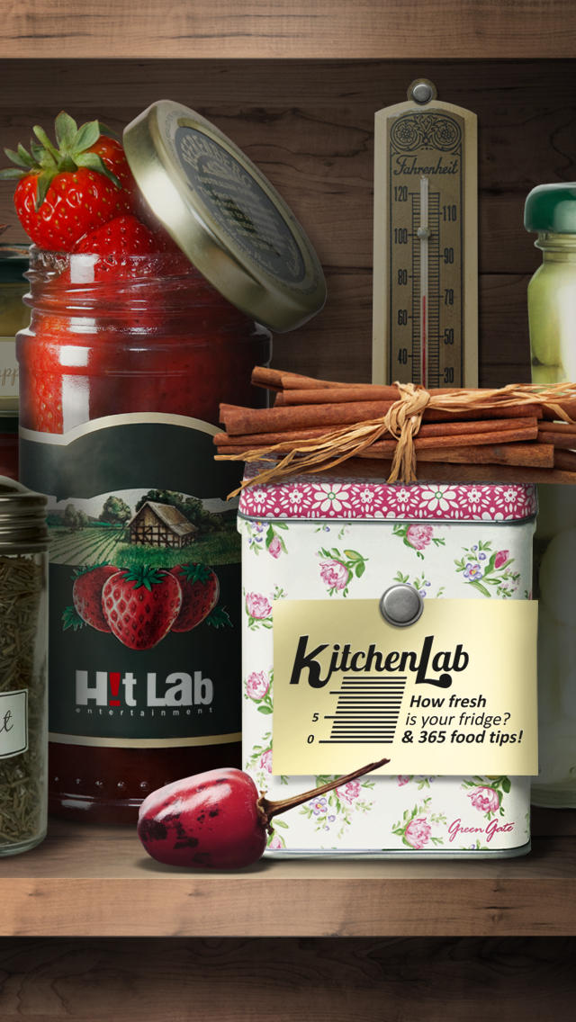 KitchenLab: How fresh is your fridge? & 365 food tips! Phone edition screenshot 1