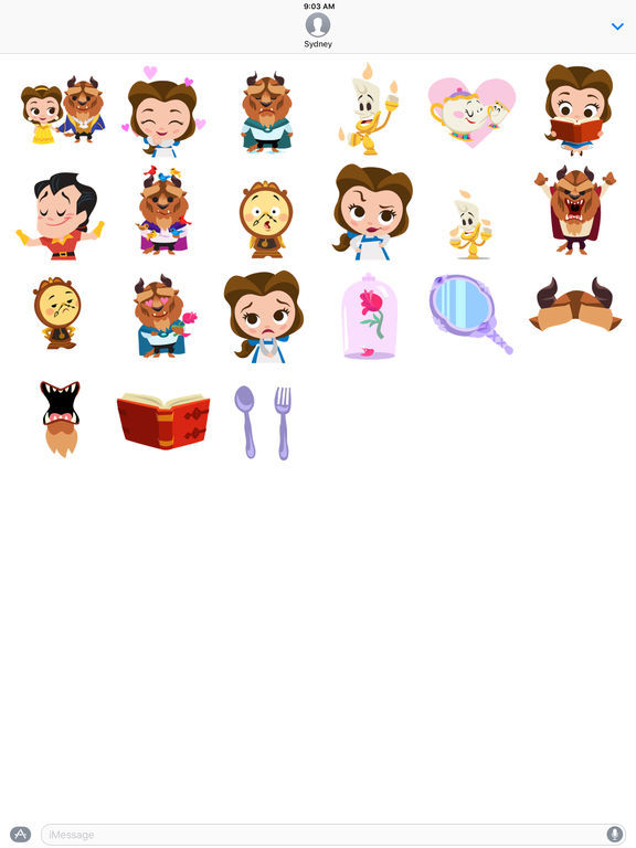 Beauty and the Beast Stickers screenshot 6