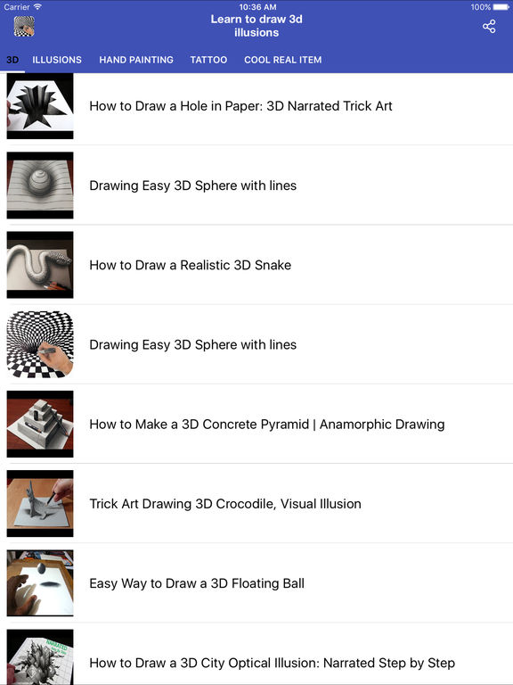 Learn to Draw 3D illusions | Apps | 148Apps
